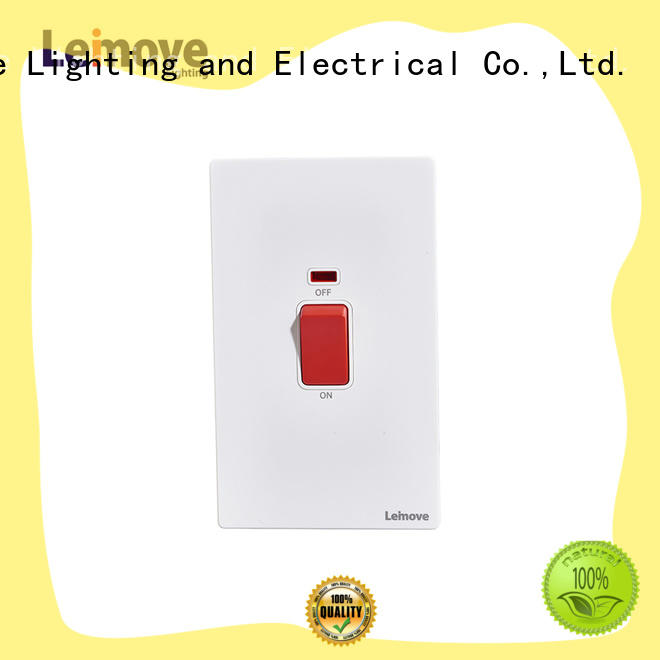 Leimove stainless steel electric wall switch bulk order for sale