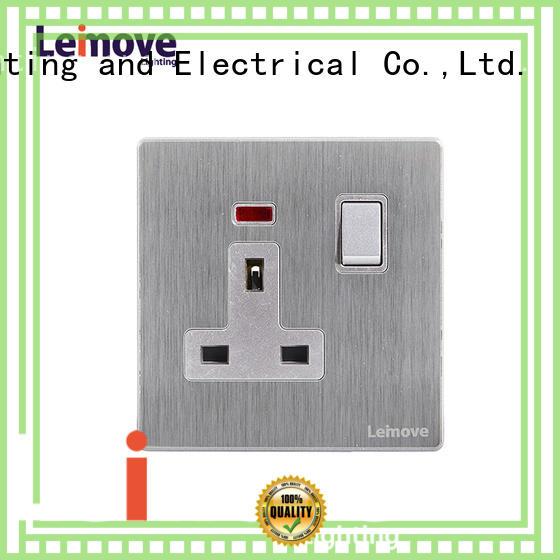 Leimove gold black plug sockets wholesale custom