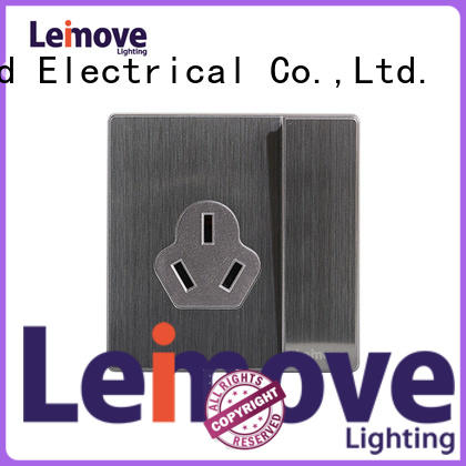 Leimove custom stainless steel electrical sockets lingmai series factory price