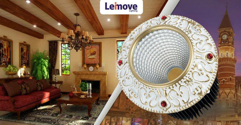 Leimove-Leimove 10w Slim Led Round DownlightLm8017 Matte Gold