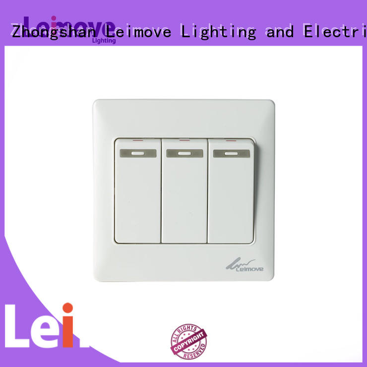 wall switch gang Leimove Brand light switch plates factory