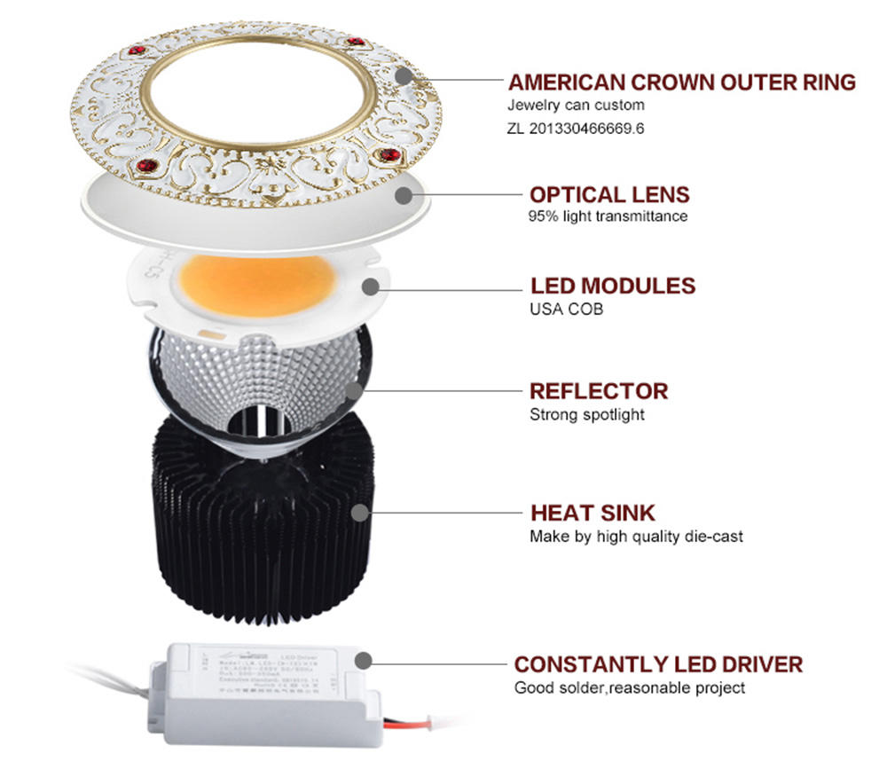spot led antiglare down led spot light ce company