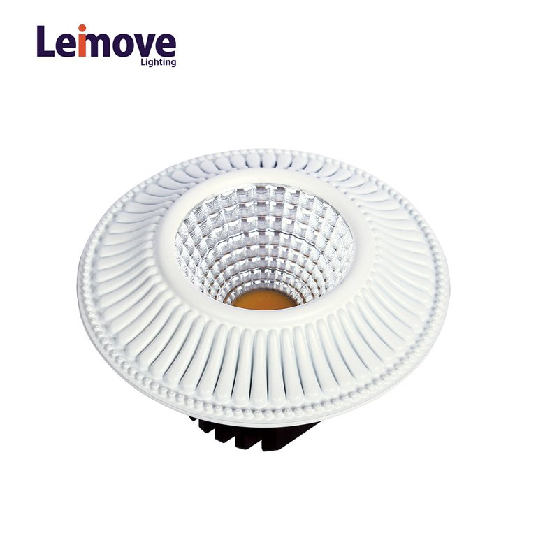Leimove 2017 New Cob Dimmable Led Downlight Malaysia, With 120mm Cut Out LM8018 Pearl Silver/Gold LED Spot Light image4