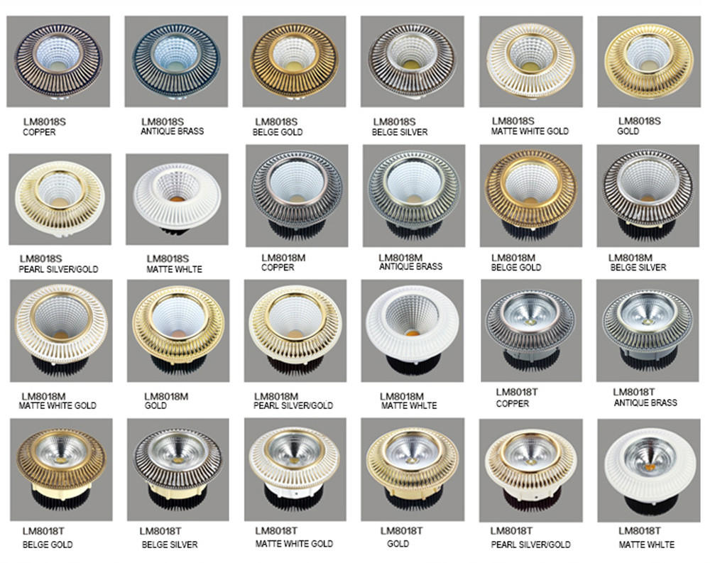 silver-gold led spotlights for sale round shape Leimove