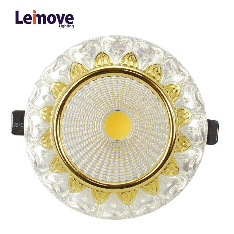 Leimove gold adjustable led spotlights ceiling for decoration