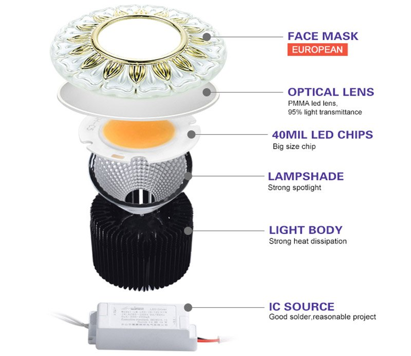 Leimove gold adjustable led spotlights ceiling for decoration-9