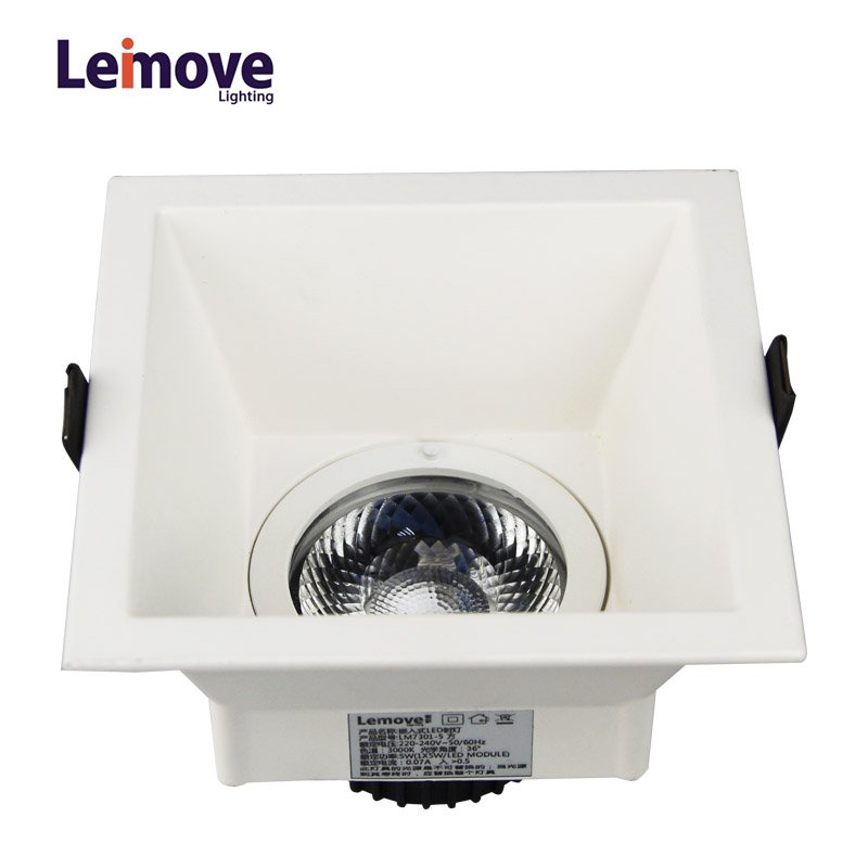 Leimove Anti-glare CRI90 flicker free 2 years warranty 500lm 5W LED downlight  LM7001 LED Spot Light image17