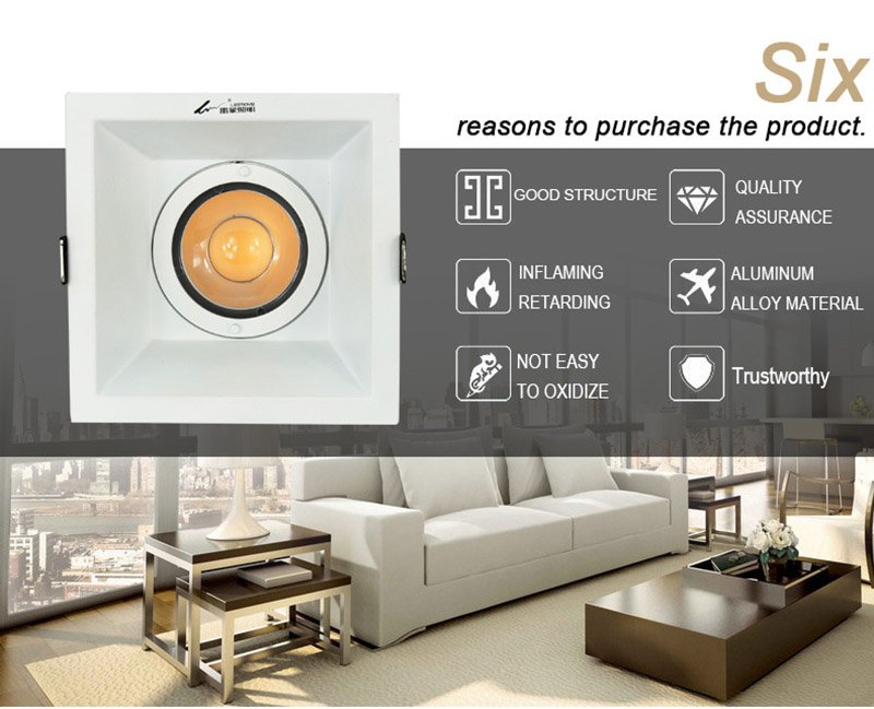 Leimove-Anti-glare Cri90 Flicker Free 500lm 5w Led Downlight | Leimove-2