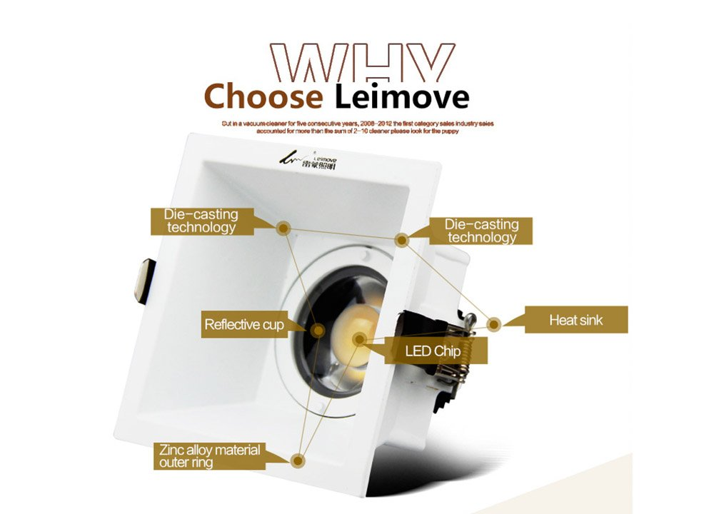 Leimove-Anti-glare Cri90 Flicker Free 500lm 5w Led Downlight | Leimove-6