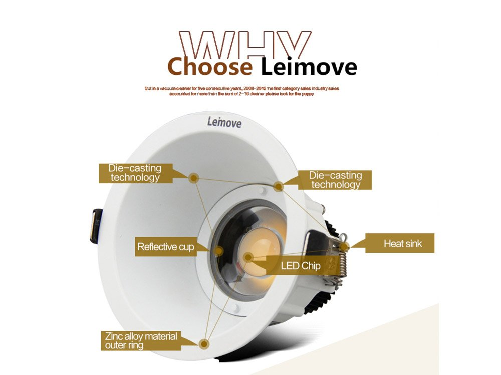 Leimove High quality led lighting factory hot sale 5w cob indoor led downlight  LM7002-6