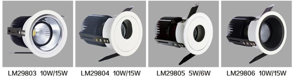 Leimove-Spot Led Gu10 2017 New Cob Ac100-240v Round Led Downlight Lm8003-4