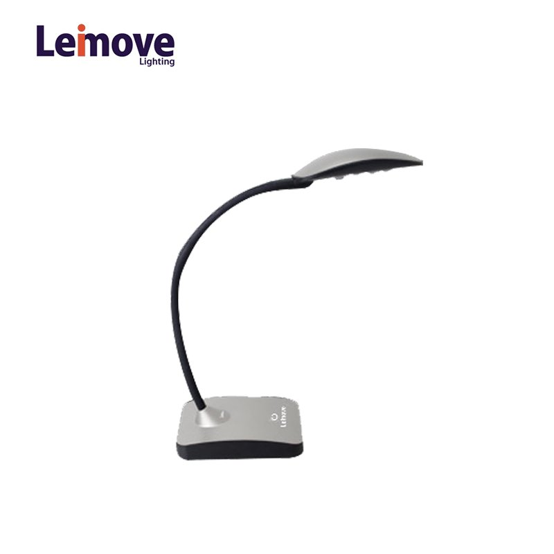 Leimove LED Table Lamp Dimmable Lamps Eye Protection Reading Lamps LMHYT-12 Silver LED Desk Lamp image6