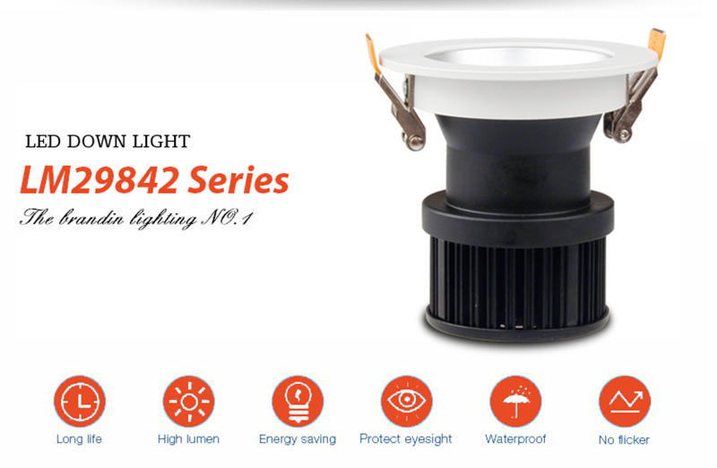 commercial illumination slim led downlights anti-dazzling white milky for wholesale