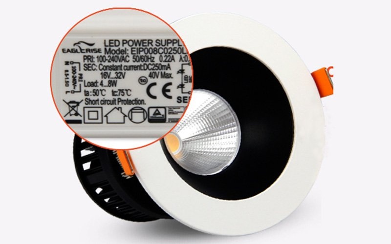 commercial illumination slim led downlights anti-dazzling white milky for wholesale-6