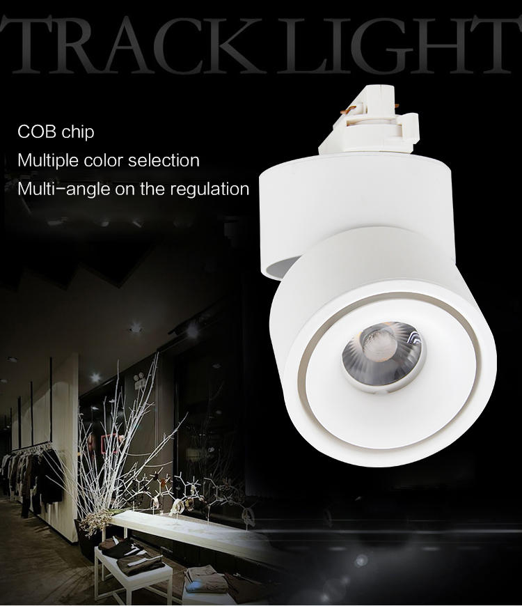 90 CRI Unique Design 3 years Warranty 2 3 4 Wires Adapter 35w Spot Cob Led Track Light LMTG9219