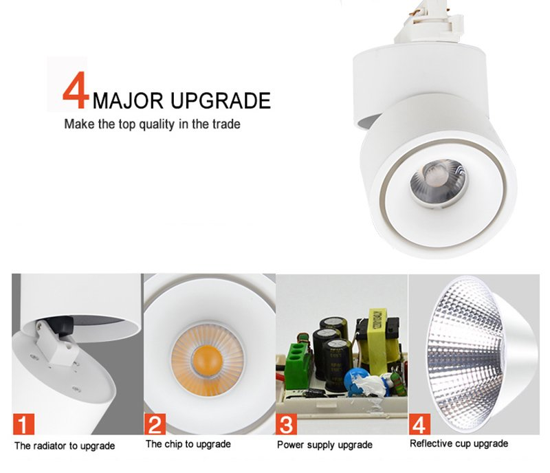 90 CRI Unique Design 3 years Warranty 2 3 4 Wires Adapter 35w Spot Cob Led Track Light LMTG9219-6