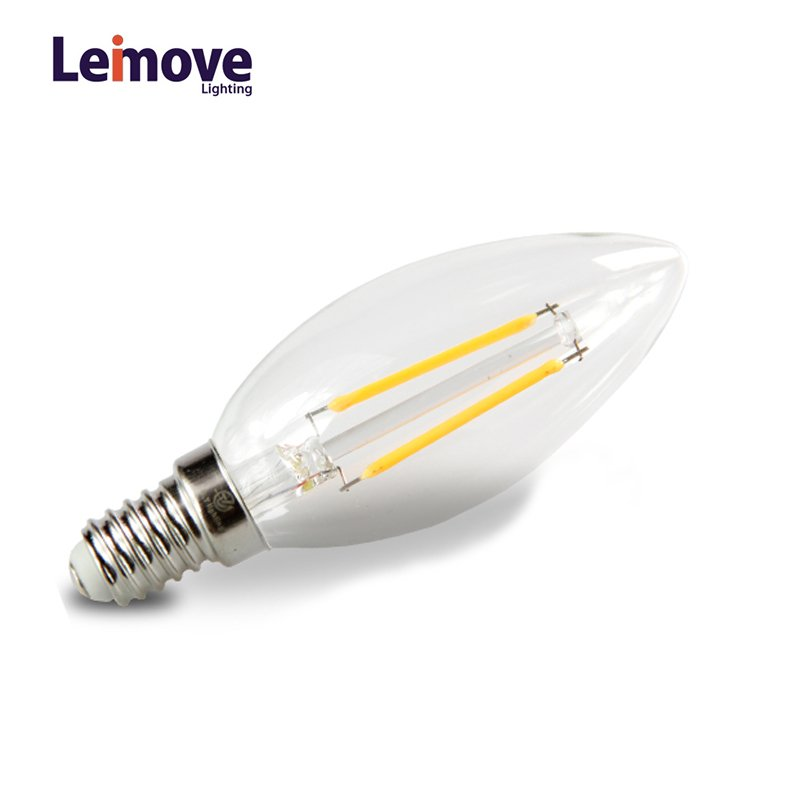 Leimove Wholesale rgb 220 Volt 2W LED Filament Bulb  LM-C35 2W LED Bulb image3