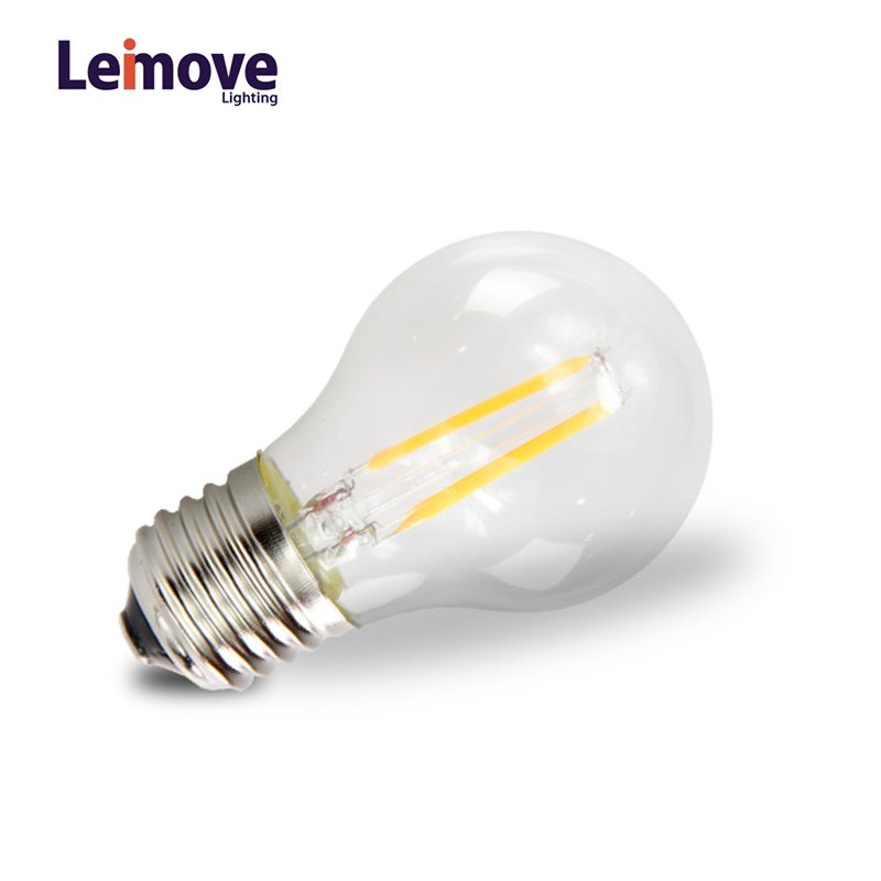 Leimove AC110V 2W e27 Glass LED Filament Bulb  LM-G50 2W LED Bulb image1