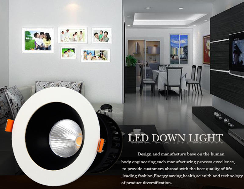Made in china surface mounted cob led downlight 15w black warranty 3 years LM29842