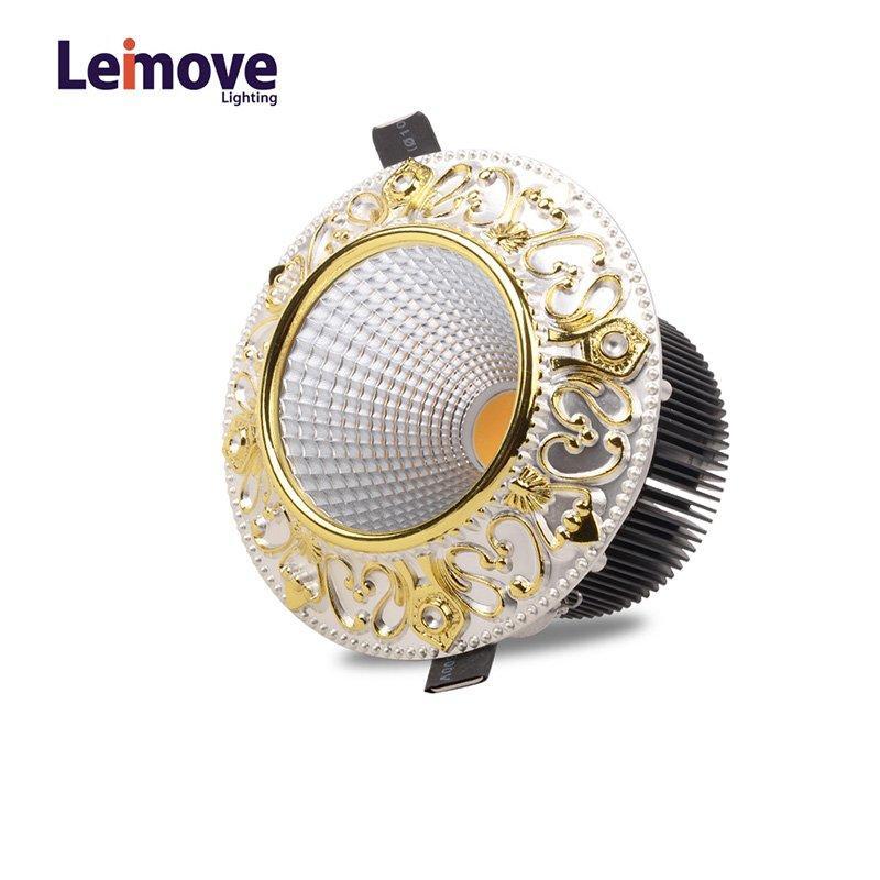 أدى Leimove 10W سليم النازل جولة في أفضل الأسعار LM8017 الذهب غير لامع