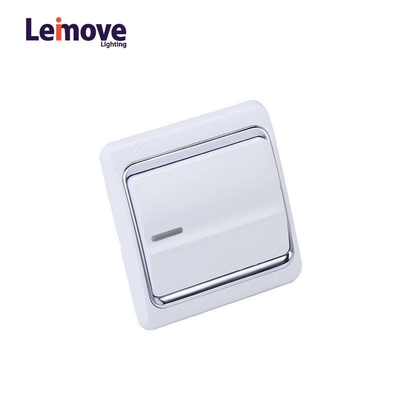 Leimove 10A One Gang 2 Way Electrician Wall Switch Ling Xuan White Series image6