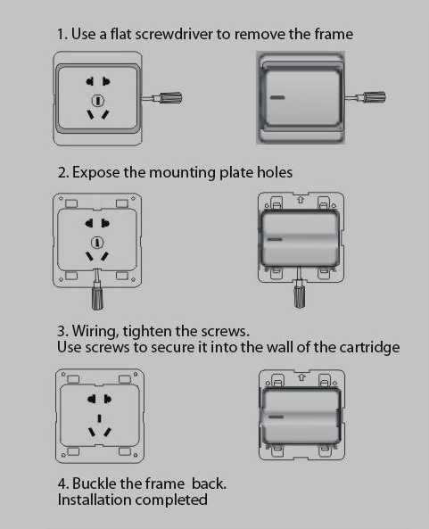 Leimove-General 10A 250V 1 Gang 2 Way PC Wall Switch | Leimove Lighting-2