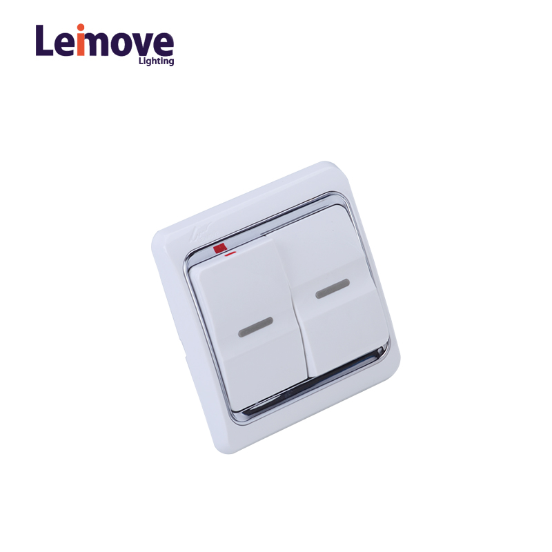Leimove Hot Sale Three Year Warrant 13A 2 Gang 1 Way Switch Ling Xuan White Series image5