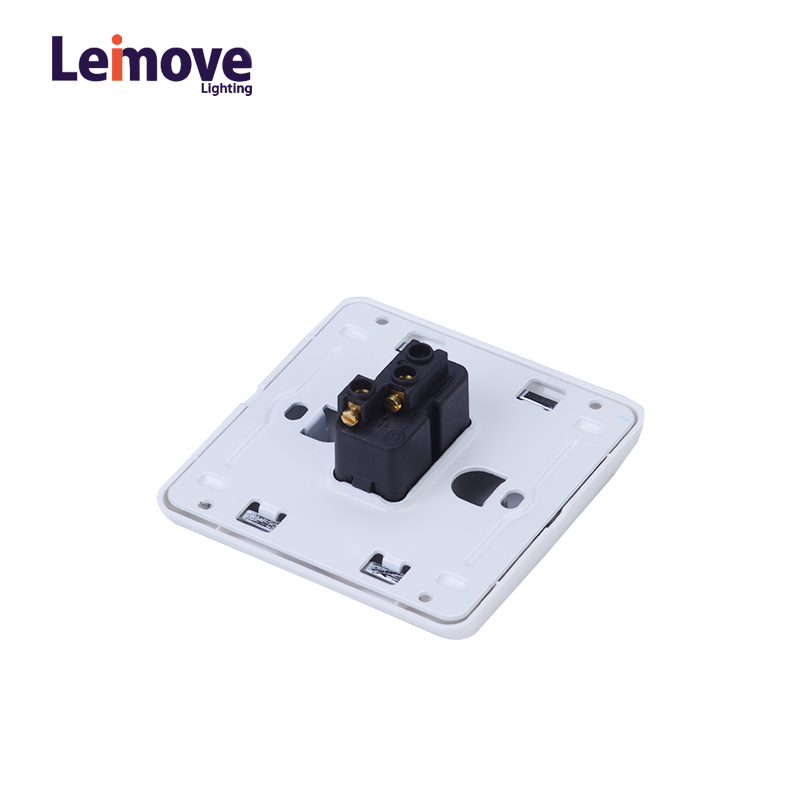 Leimove 10A One Gang 1 Way Electrician Wall Switch Ling Xuan White Series image4