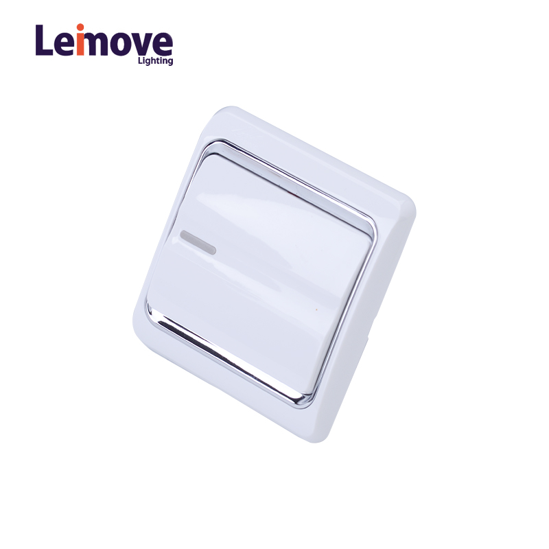Leimove 10A One Gang 1 Way Electrician Wall Switch Ling Xuan White Series image41