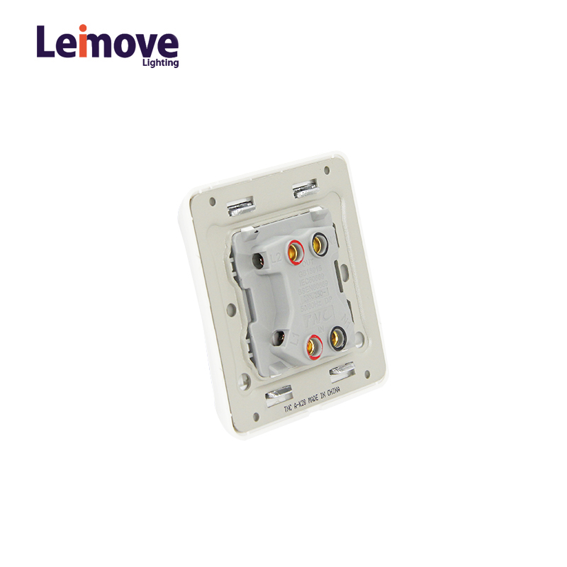 Leimove 2017 86*86 20A 1 Gang 1 way Wall Switch Ling Xuan White Series image2