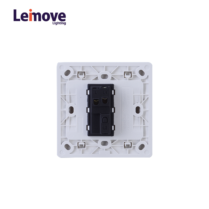 Leimove General 10A 250V 1 Gang 1 Way PC Wall Switch 86*86mm Ling Tong Series image6
