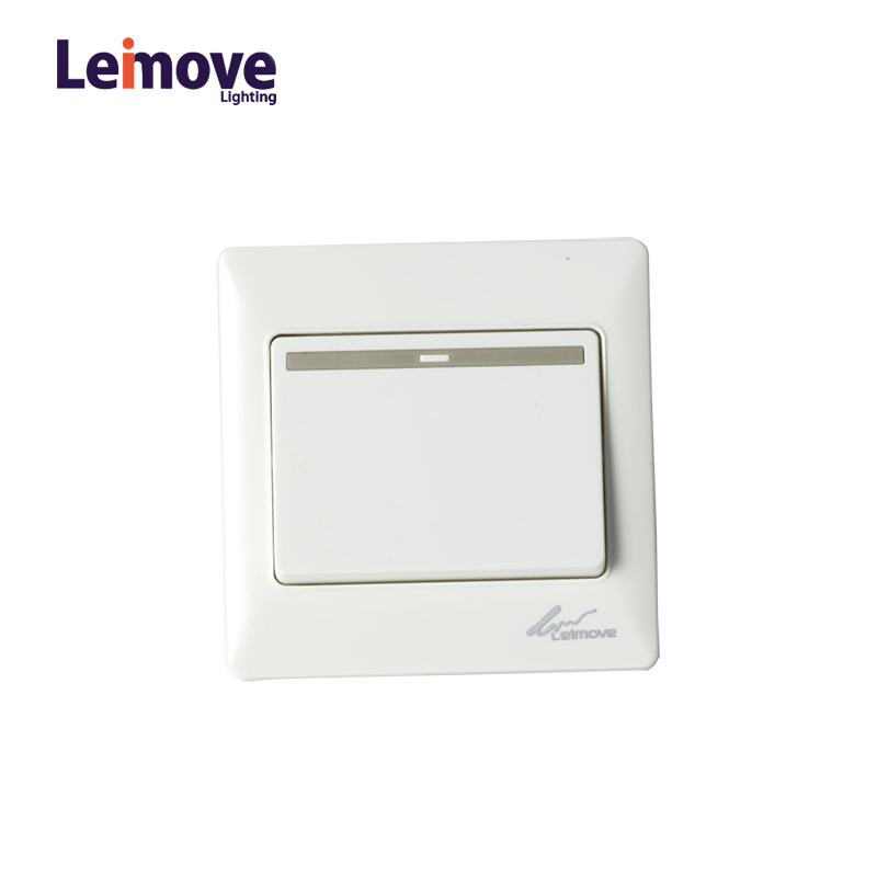 Leimove General 10A 250V 1 Gang 1 Way PC Wall Switch 86*86mm Ling Tong Series image37