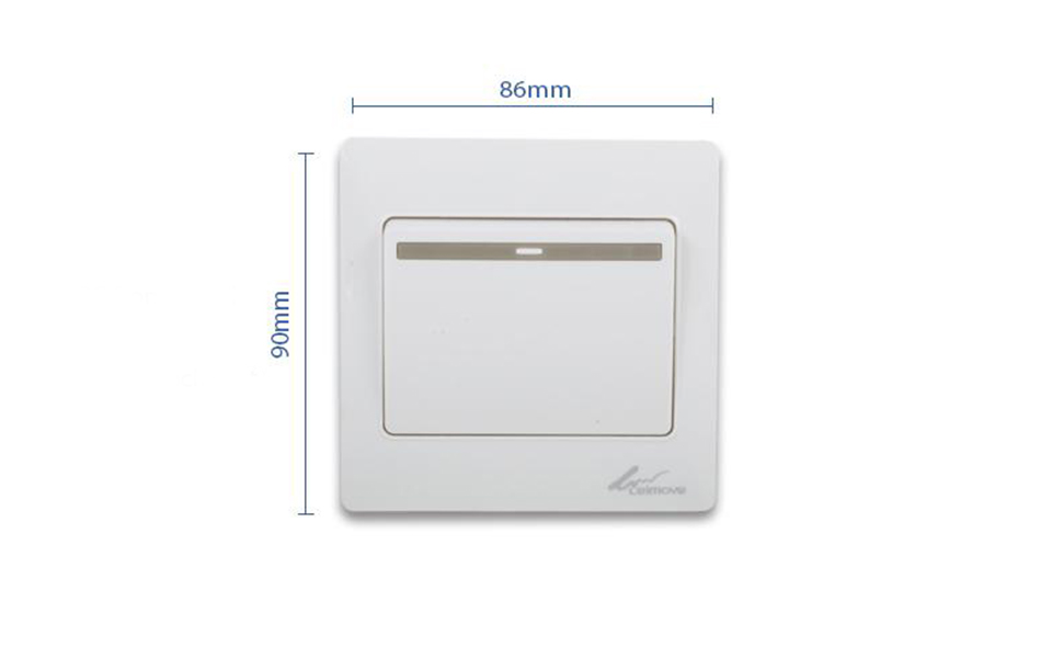Leimove-General 10A 250V 1 Gang 1 Way PC Wall Switch | Leimove Lighting-5