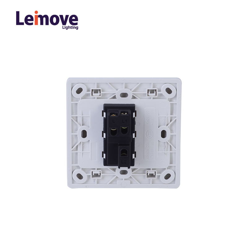 Leimove General 10A 250V 1 Gang 2 Way PC Wall Switch 86*86mm Ling Tong Series image36