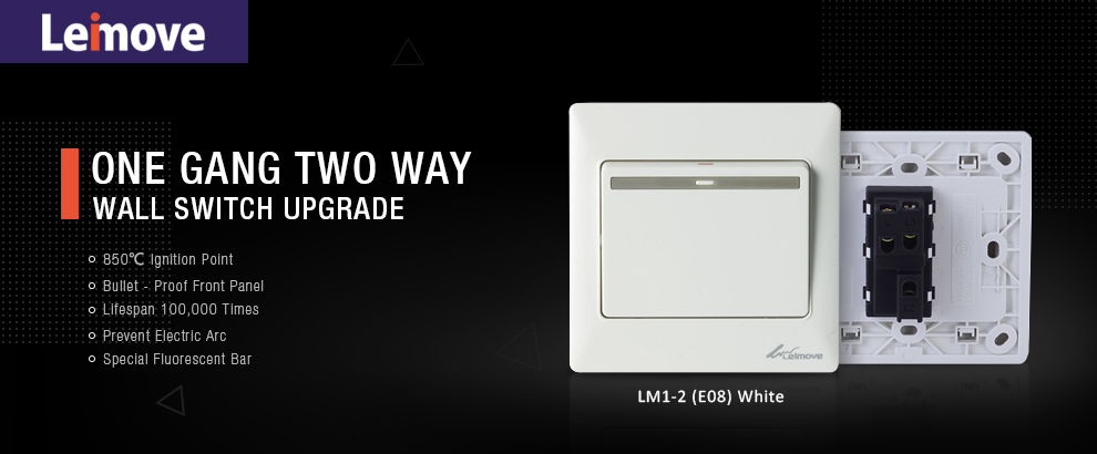 Leimove-General 10A 250V 1 Gang 2 Way PC Wall Switch | Leimove Lighting