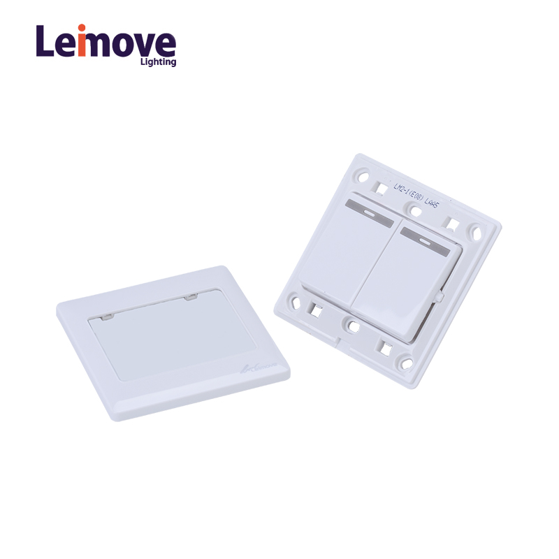 Leimove 10A Two Gang One Way Switch White 86*86 Ling Tong Series image35
