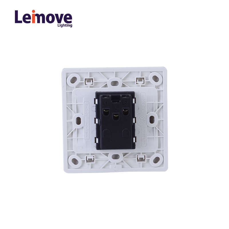 Leimove 10A Two Gang One Way Switch White 86*86 Ling Tong Series image4
