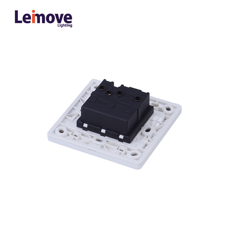 Leimove Electric Home 10A 100-250V 3 Gang One Way Wall Switch 86*86 Ling Tong Series image3