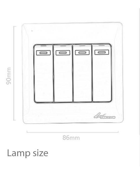 Leimove-High-quality 4 Gang 1 Way Electrical Wall Switch | Leimove-1