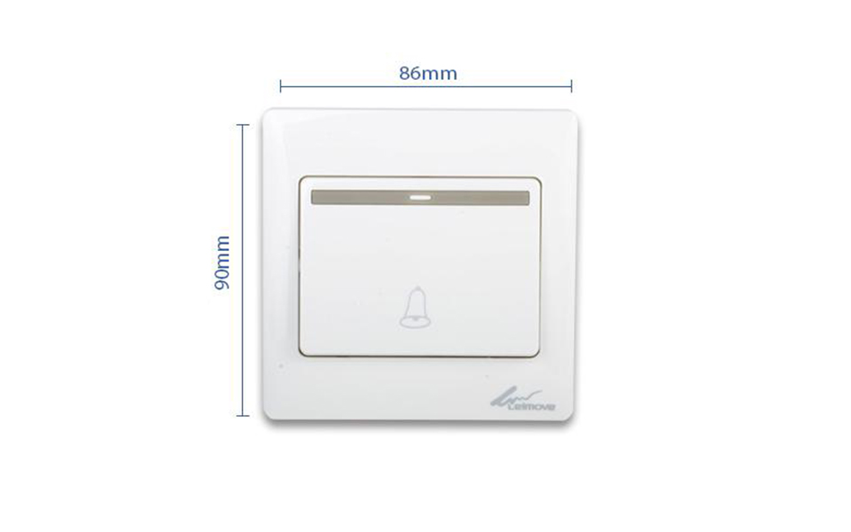 Leimove-One Way White Door Bell Wall Switch | Leimove-5