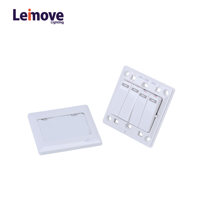 Leimove 10A 110V 4 Gang 1 Way electrical Wall Switch 86*86 Ling Tong Series image33
