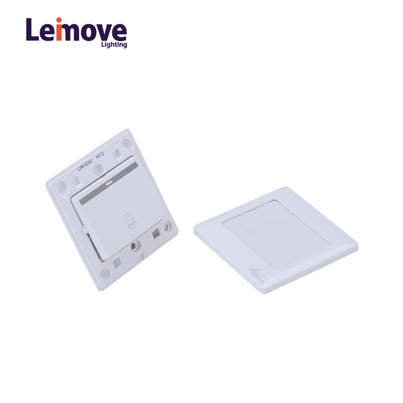 Leimove 10A 250V One Way White Door Bell Wall Switch 86*86 Ling Tong Series image1