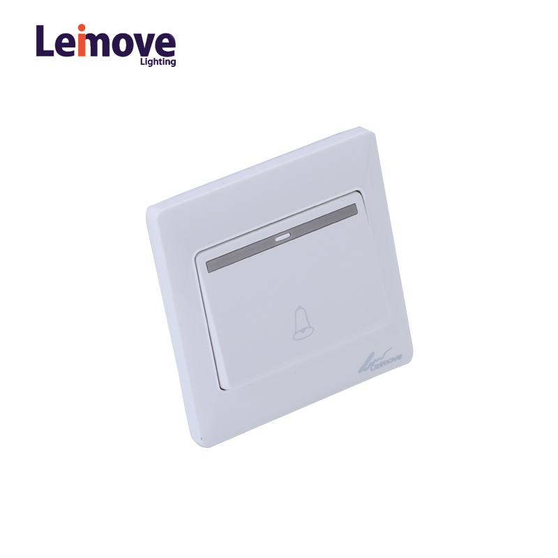 Leimove 10A 250V One Way White Door Bell Wall Switch 86*86 Ling Tong Series image32
