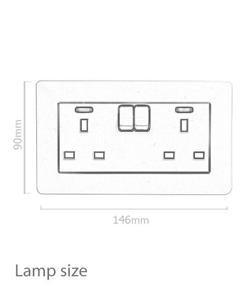 Leimove-Light Double Gang Electric Waterproof Switcher Wall Socket | Leimove-1