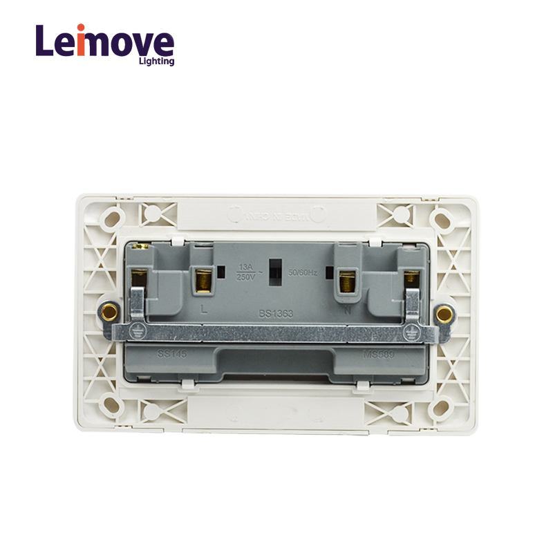 Leimove Light Double Gang Electric Waterproof Switcher Wall Socket Ling Tong Series image31
