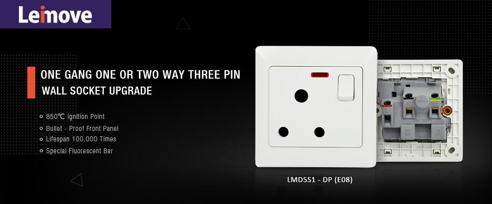 Leimove-Professional Wall Multi 3 Pin Outlet Socket Supplier | Leimove