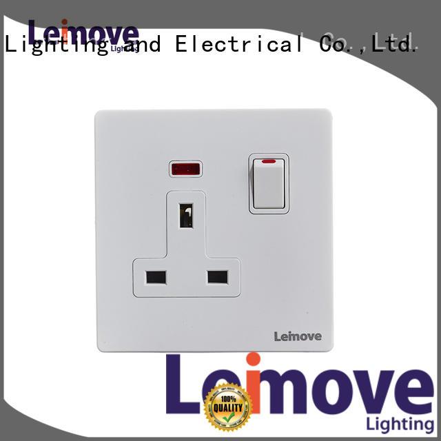 Leimove custom 3 pin wall socket OEM custom