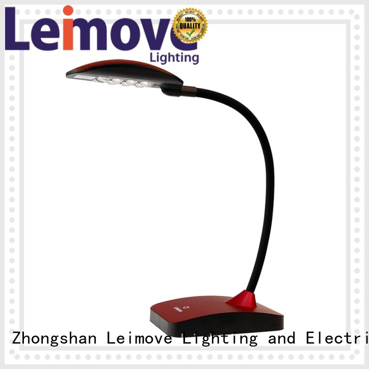 modern led desk lamp lamps brown red Leimove Brand