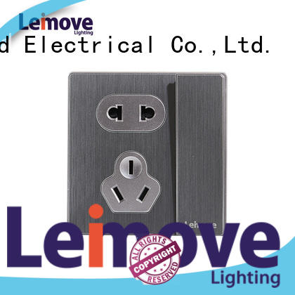 sand stone 3 pin wall socket stainless steel wholesale factory price
