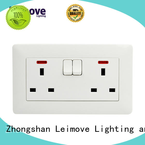 Custom replace socket outlet fluorescent Leimove